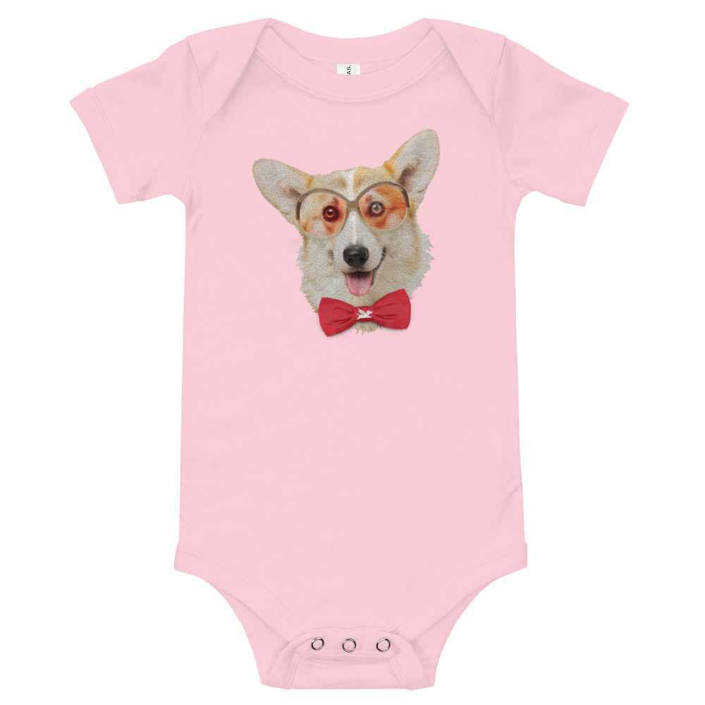 Babies | Corgi with Glasses & Bow Tie - 6 Colors