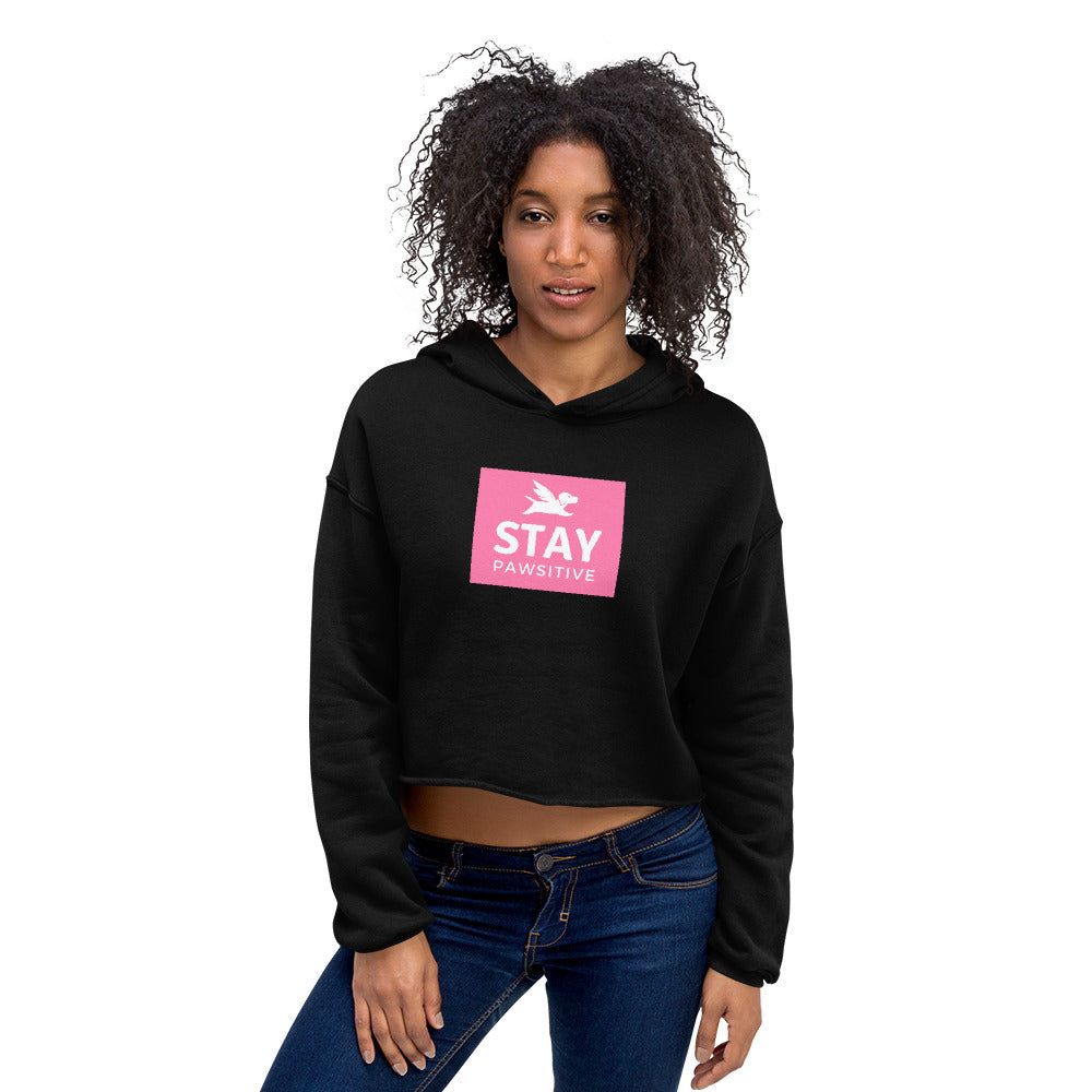 Crop Hoodie | Stay Pawsitive