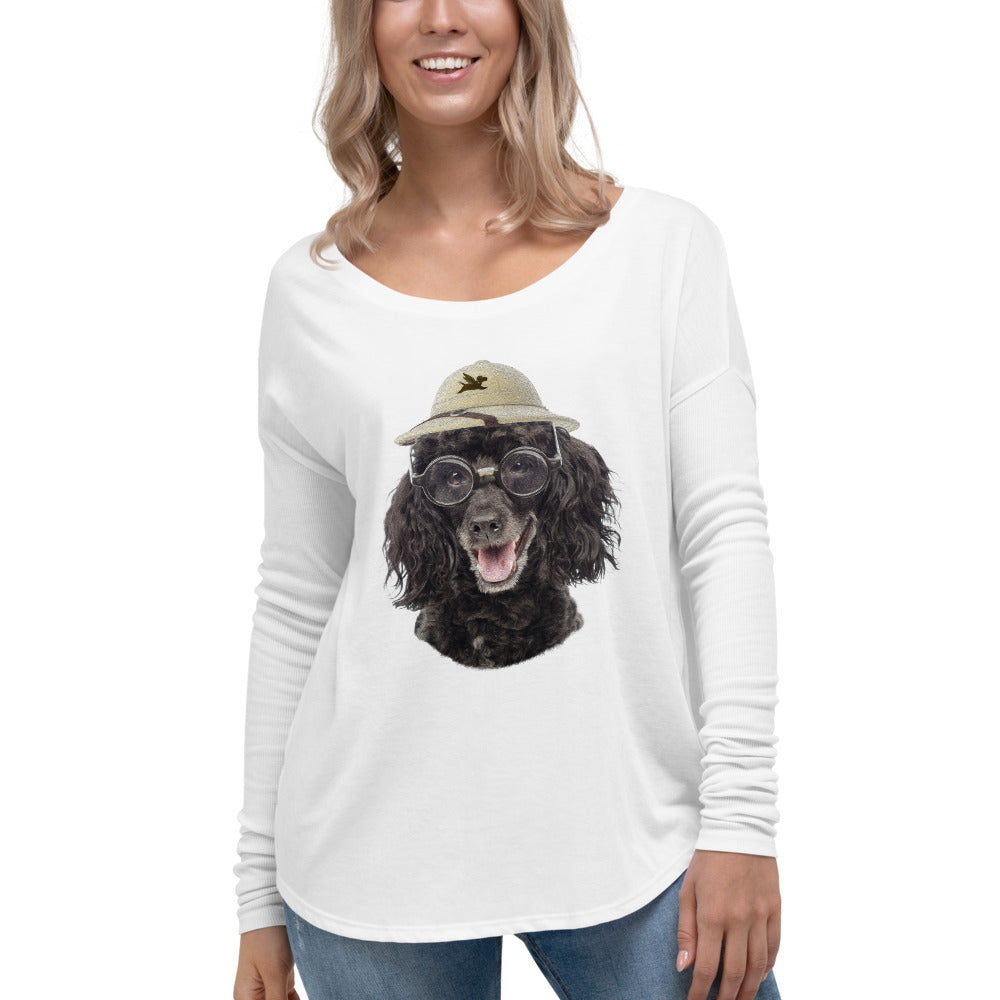 Long Sleeve | Poodle with Glasses