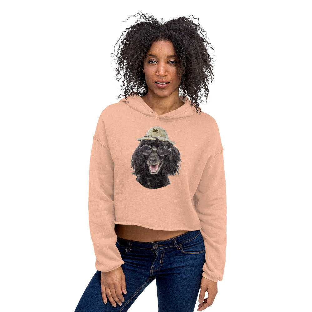 Crop Hoodie | Poodle with Glasses