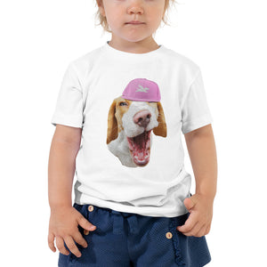 Toddler Tee | Beagle in Pink Cap