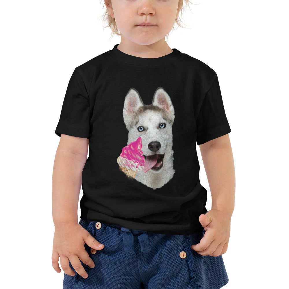 Toddler Tee | Husky & Ice-cream
