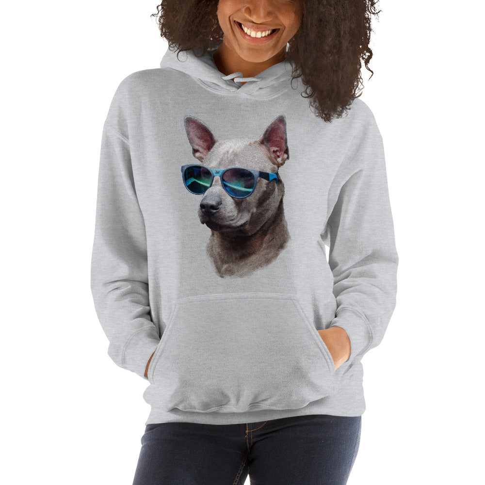 Hoodie | Cool Dog Blue Sunglasses