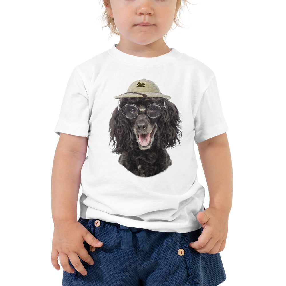 Toddler Tee | Poodle with Glasses