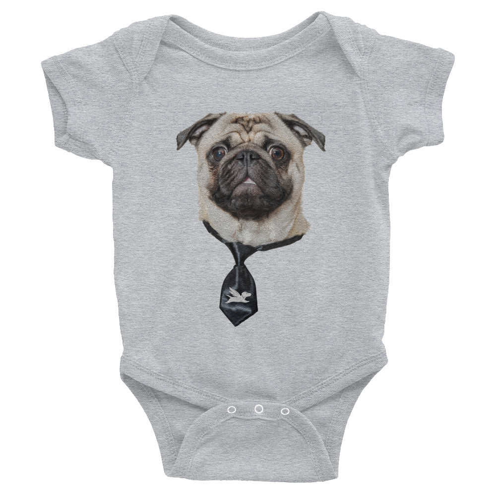 Babies | Smart Pug with Black Tie - 4 Colors