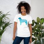 Women's White Dog Themed T Shirt | Loving Labrador Tee