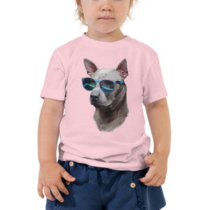 Toddler Tee | Cool Dog Blue Sunglasses