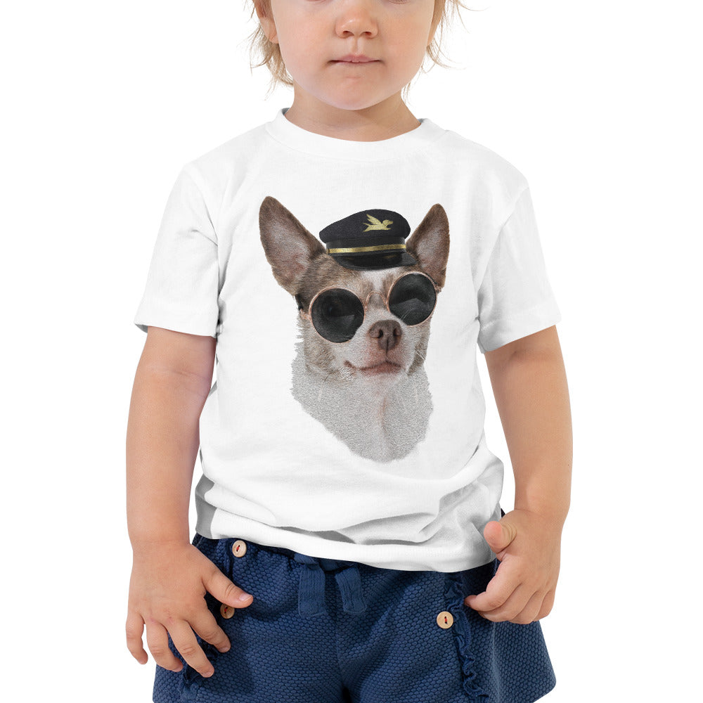 Toddler Tee | Captain Chihuahua