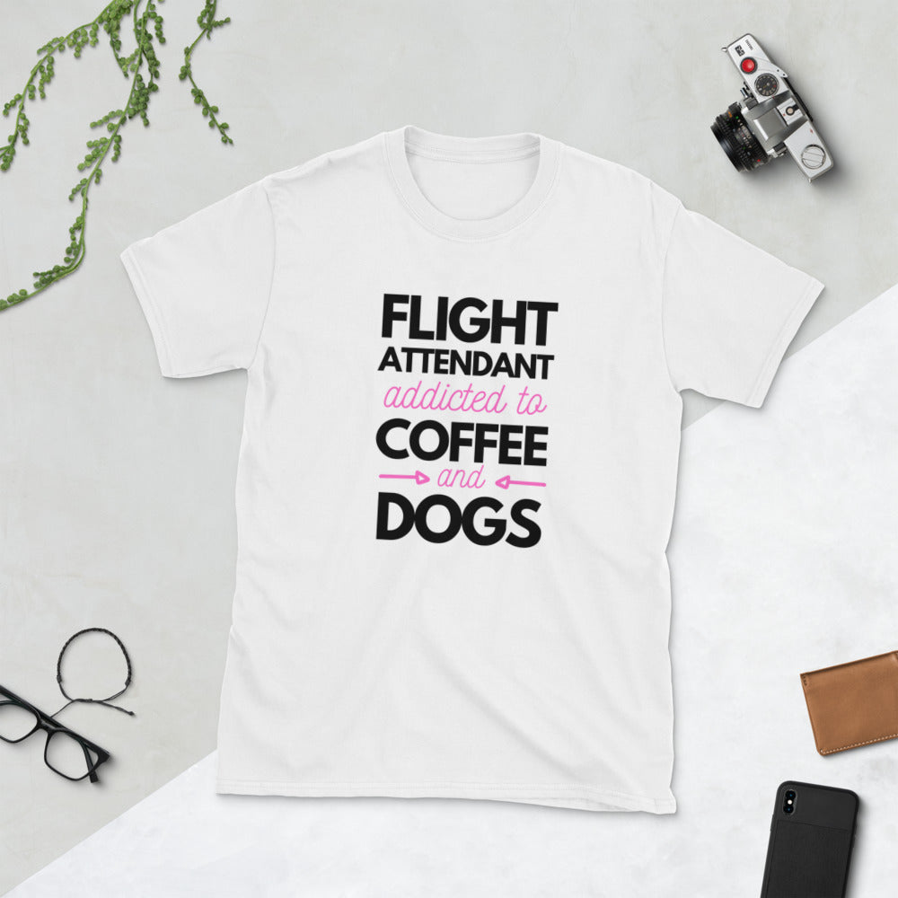 Women | Flight Attendant Addicted to Coffee & Dogs