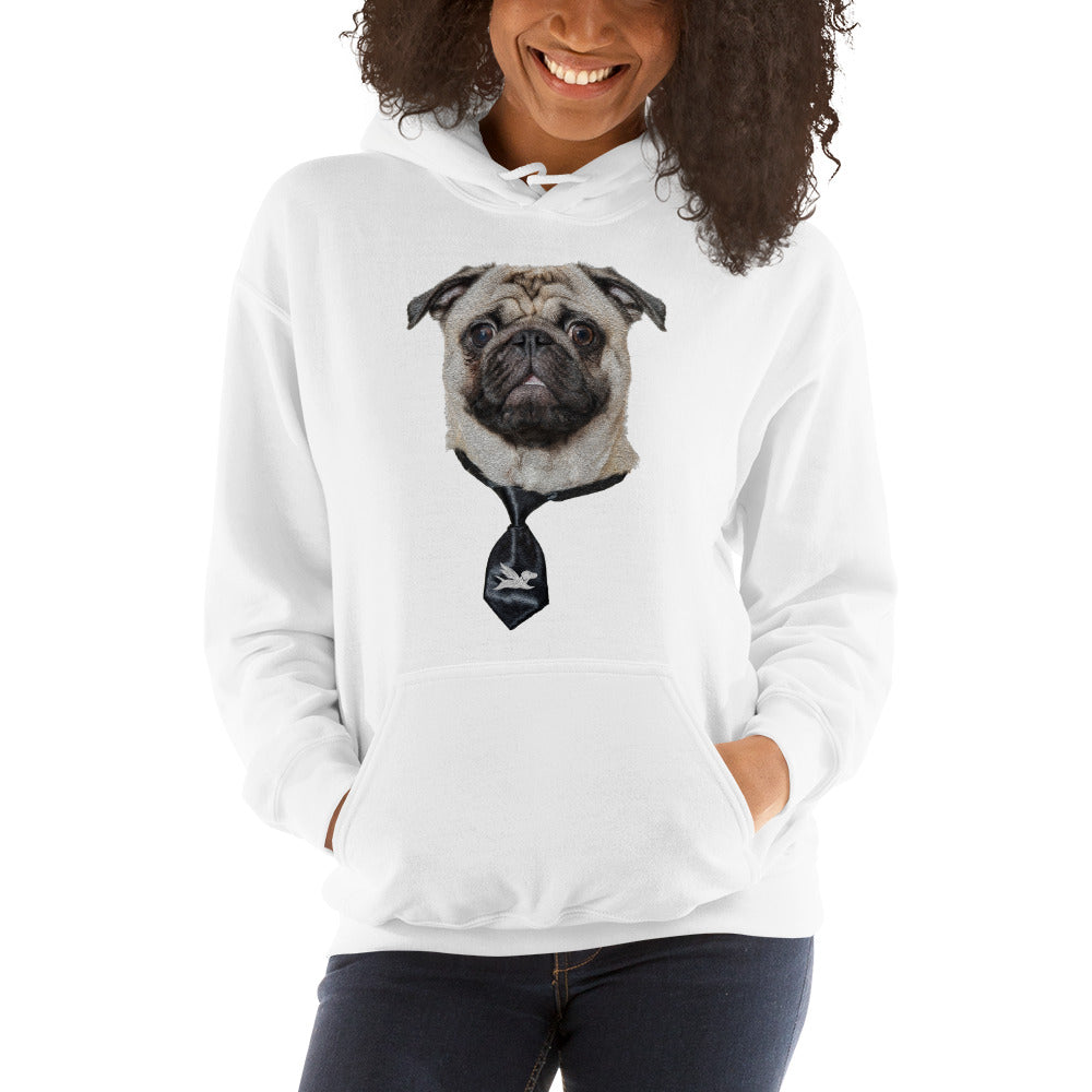 Hoodie | Smart Pug With Black Tie - 6 Colors
