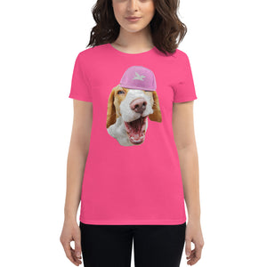 Women's Fit | Beagle in Pink Cap - 6 Colors