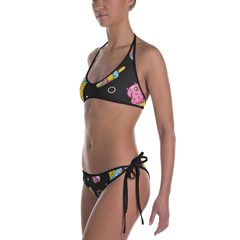 High Quality Bikini Set | Black Ice Cream Designs