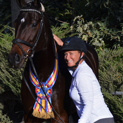 Karen Ball is a dressage horse trainer in California and also represents EQUSANI superior equine care and nutritional products