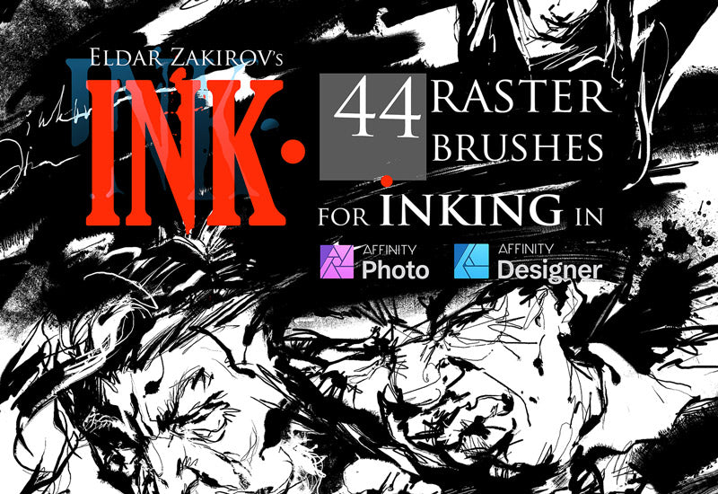 The Ink Brushes Bundle For Affinity Photo And Designer-Add-Ons-Artixty