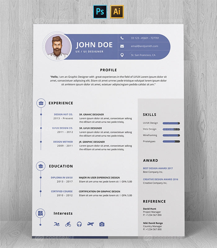 The Refined Resume Templates Bundle - 100 Designs-Templates-Artixty
