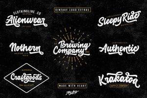 The Royale Stylish Font Bundle - 15 Script Fonts-Fonts-Artixty