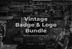 150 Exquisite Vintage Logo And Badge Bundle-Templates-Artixty