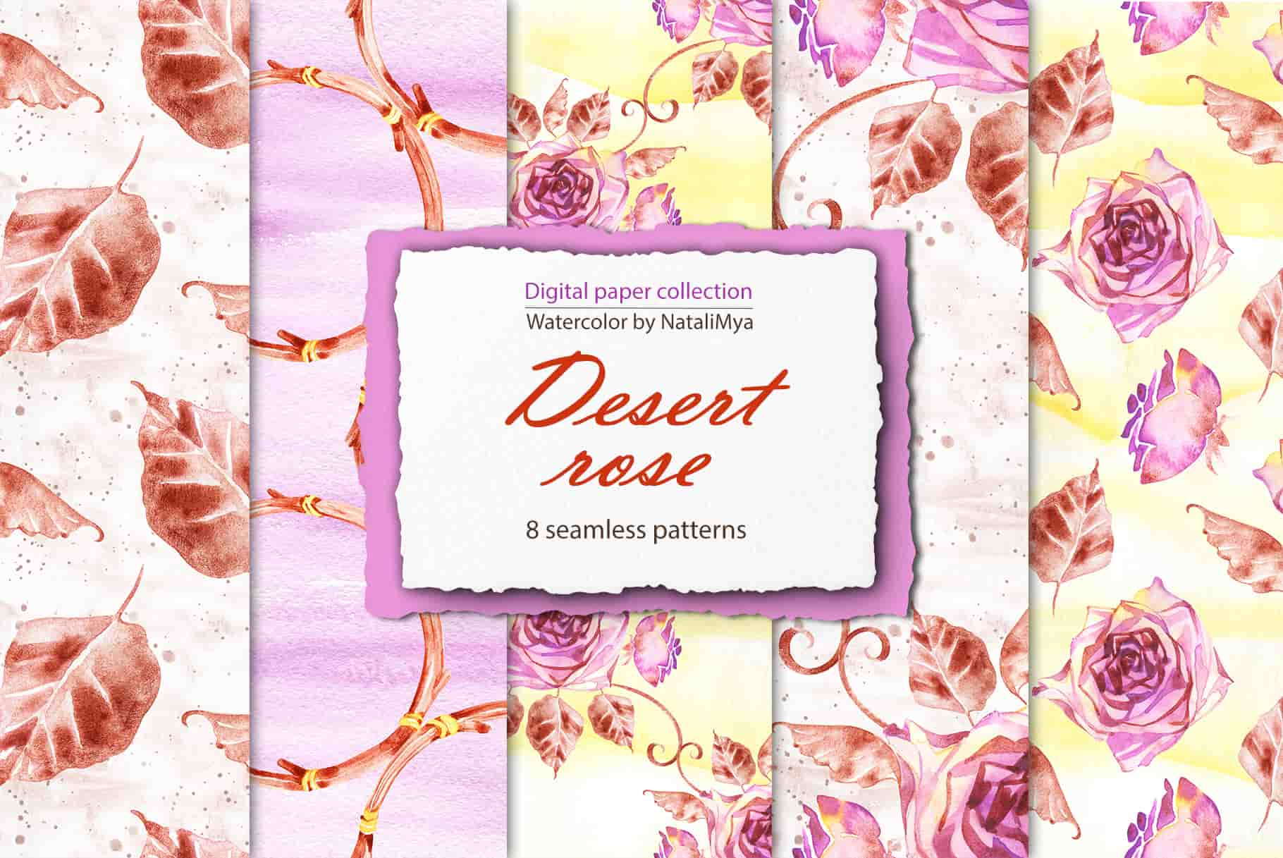 Watercolor Digital Papers and Textures Collection-Graphics-Artixty
