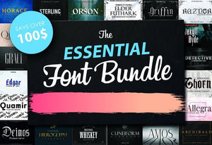 The Essential Font Bundle - 80+ Fonts-Fonts-Artixty