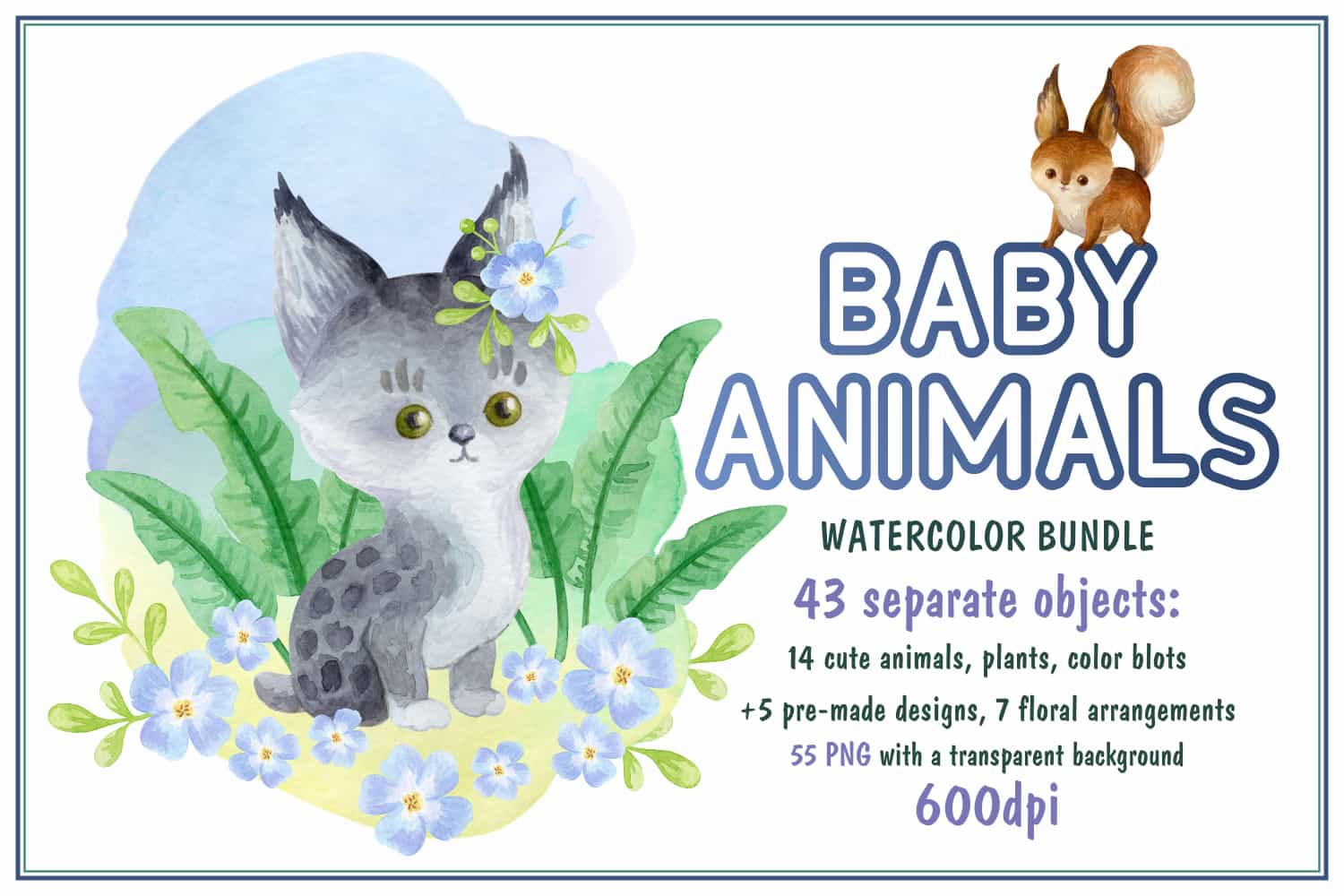 The Giant Bundle Of 1500+ Cute Illustrations-Graphics-Artixty