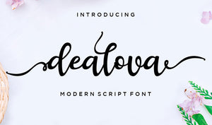Hand-Lettered Font Bundle - 17 Romantic Script Fonts-Fonts-Artixty