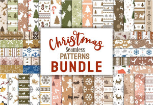 The Cheerful Christmas Seamless Patterns Bundle-Graphics-Artixty