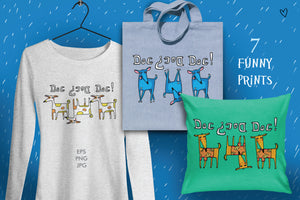 Hand-Drawn Dog Designs Mega Bundle-Graphics-Artixty