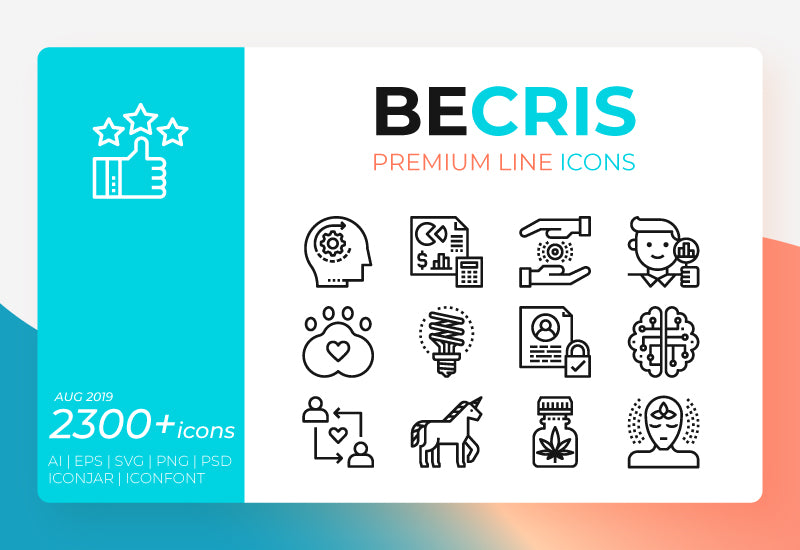 2300+ Becris Premium Line Icon Pack-Graphics-Artixty