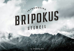 Freebie: Bripokus Stencil Font-Freebies-Artixty