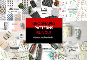 The Geo Shapes Patterns Creative Bundle-Graphics-Artixty