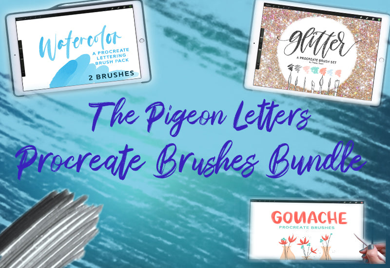 The Pigeon Letters Procreate Brushes Bundle-Add-Ons-Artixty