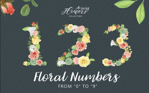 Freebie: Floral Numbers-Freebies-Artixty