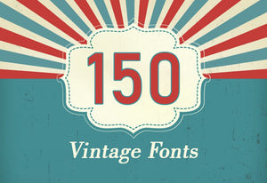 150+ Amazing Artistic Vintage Fonts Bundle-Fonts-Artixty