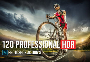 120 Pro HDR Photoshop Actions Bundle-Add-Ons-Artixty