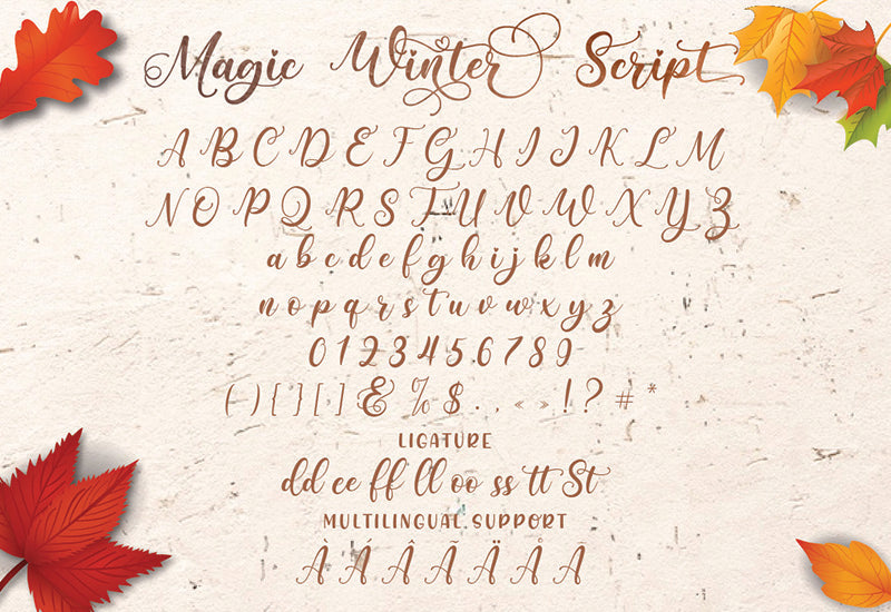 Magic Winter Font Trio By Almeera Studio-Fonts-Artixty