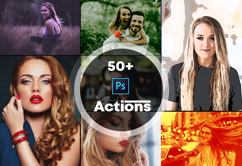 50+ Unbelievable Photoshop Actions Bundle-Add-Ons-Artixty