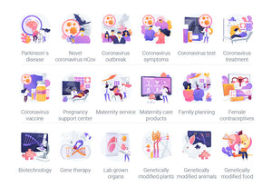 Healthcare UI Illustration Kit - 50+ Illustrations-Graphics-Artixty