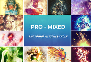 25 Pro Mixed Photoshop Actions Bundle-Add-Ons-Artixty