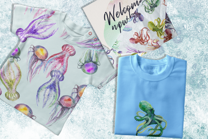 Reef Shores - Oceanic Watercolor & Ink Bundle-Graphics-Artixty