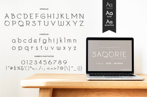 Freebie: Saqorie Font-Freebies-Artixty