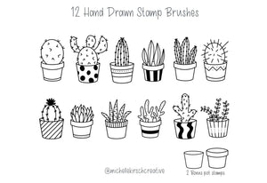 270+ Fancy Procreate Stamp Brushes Bundle-Add-Ons-Artixty