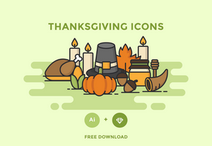 Freebie: Thanksgiving Icons-Freebies-Artixty