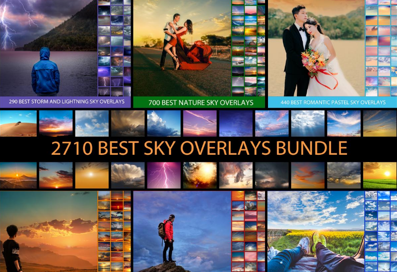 The Massive Bundle Of 2710 Sky Overlays-Graphics-Artixty
