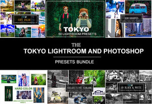 The Tokyo Lightroom And Photoshop Presets Bundle-Add-Ons-Artixty