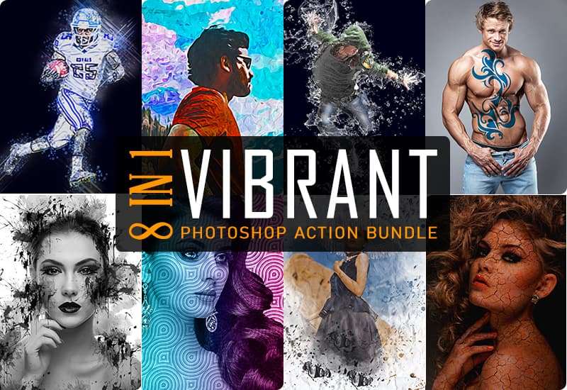 8-In-1 Vibrant Photoshop Actions Bundle-Add-Ons-Artixty