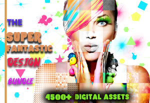 The Super Fantastic Design Bundle - 4500+ Digital Assets-Add-Ons-Artixty