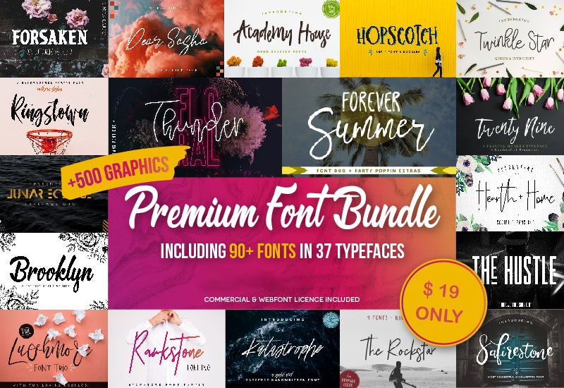Ultra Premium Font Bundle With 500+ Design Resources-Fonts-Artixty