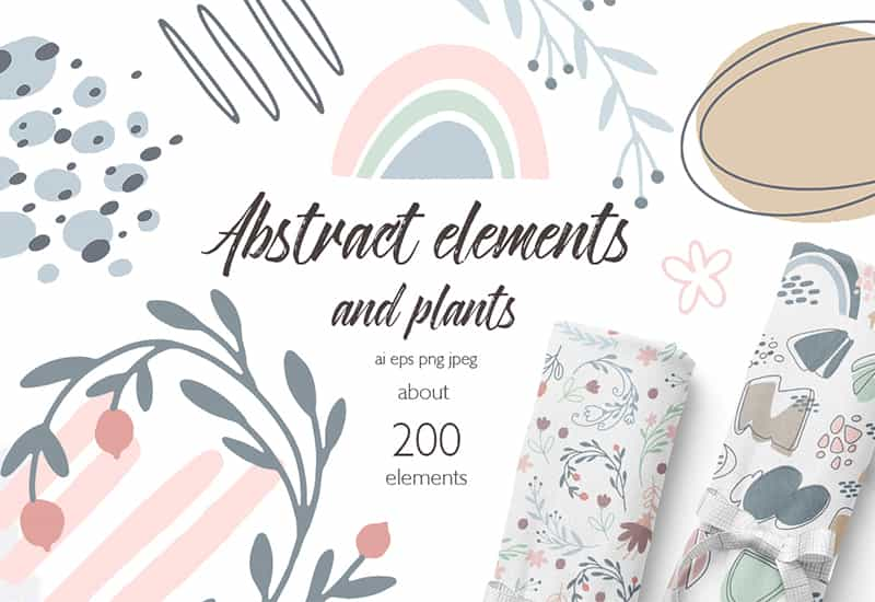Abstract Geometric Illustration Bundle - 200 Cute Designs-Graphics-Artixty
