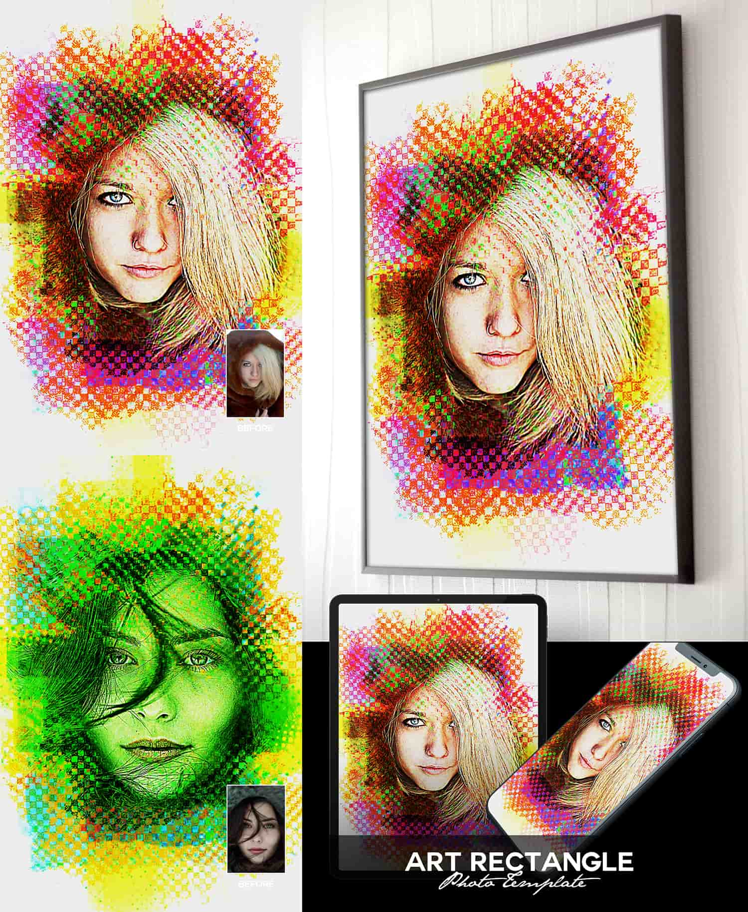 25 Artistic Art Photoshop Templates Bundle-Add-Ons-Artixty