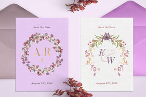 The Watercolor Monogram Illustration Bundle-Graphics-Artixty